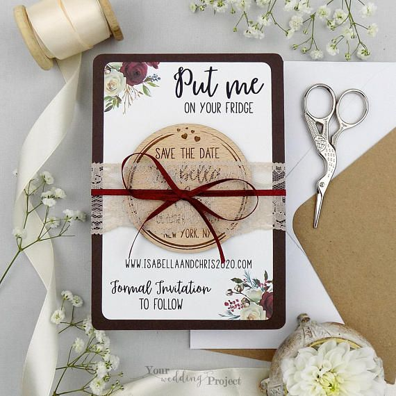 Calendar Save the Date magnet-magnetic save the date-Save the Date magnet-Custom save the date-Rustic save the date-Floral Wedding magnet