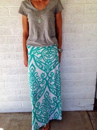 Aztec Maxi Skirt - 3brunettesboutique