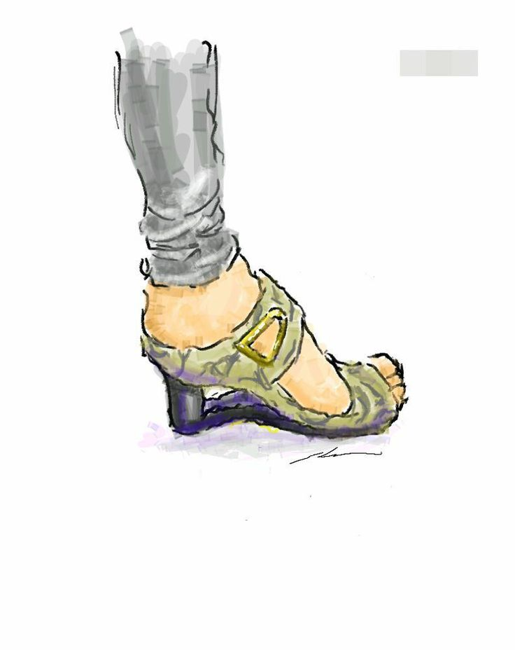 It is a sketch of shoes animal pattern of gray.  I drew while commuting on a train with the GALAXY Note.