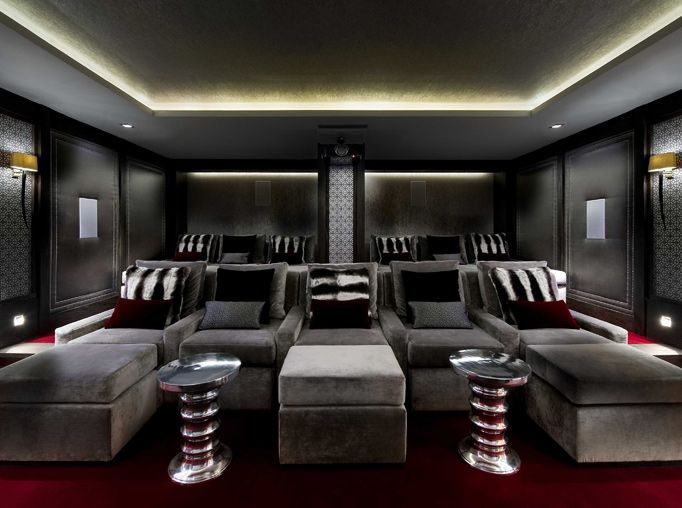 Home Cinema Design Glamorous Design Inspiration