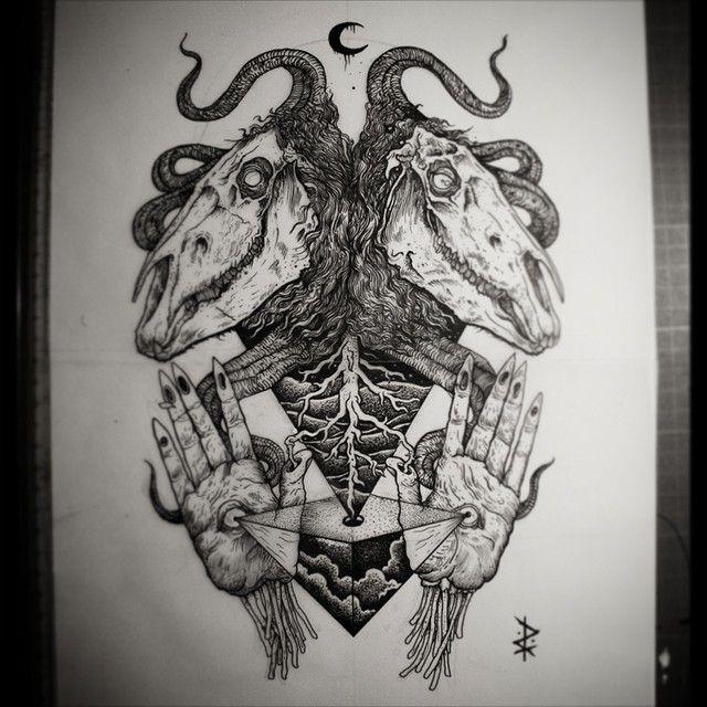 Tattoo design for Satanic tattoo designs