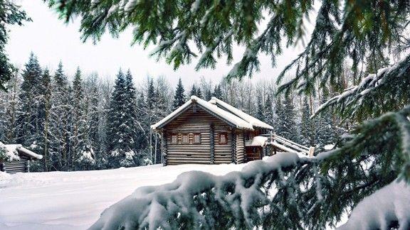 Dağ Evi Kış Manzarası  #wallpaper #ev #kış #kar #home #snow