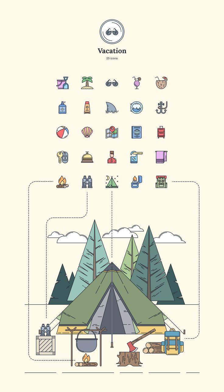 Vacation - Landing Page Icons - Designmodo Market