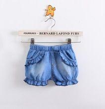 Menina Shorts Jeans : estilo coreano criança crianças Denim roupas de verão do bebê, Curto parágrafo Meninas(China (Mainland))