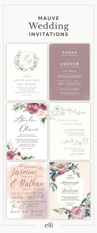 Mauve Wedding Invitations