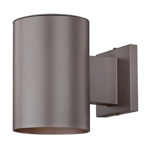 Exterior Garage Downlights: Bronze Cylinder Outdoor Wall Down Light