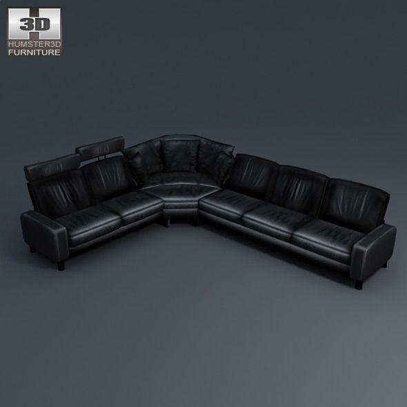 Space corner sofa - Ekornes Stressless - 3D Model.  #3docean