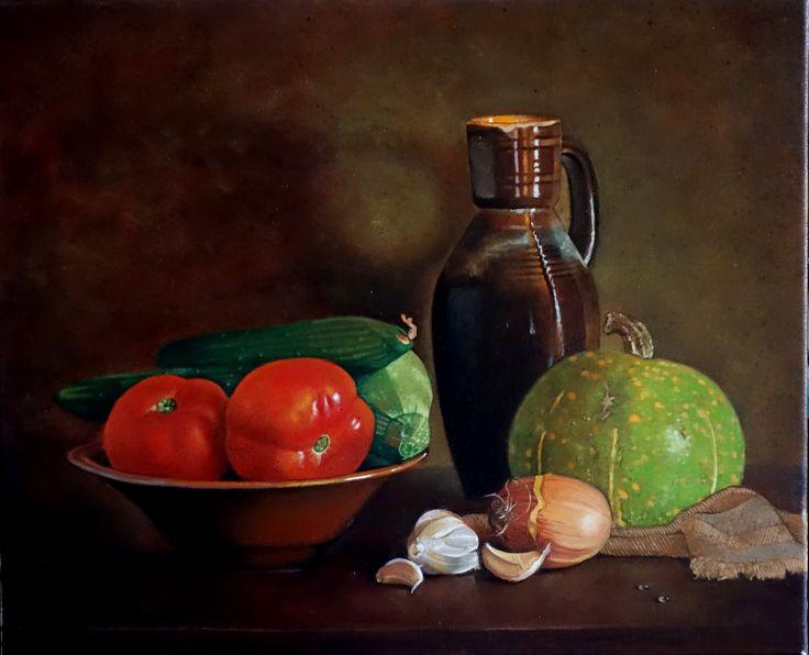 """Pintura al óleo """"Calabaza"""" Autor:Gabriel"""