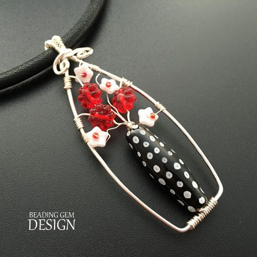 How to Make a Wire Vase of Flowers Pendant Tutorial ~ The Beading Gem's Journal