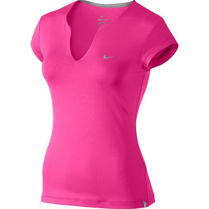 Nike Pure Short Sleeve Women's Tennis Shirt Pink Power