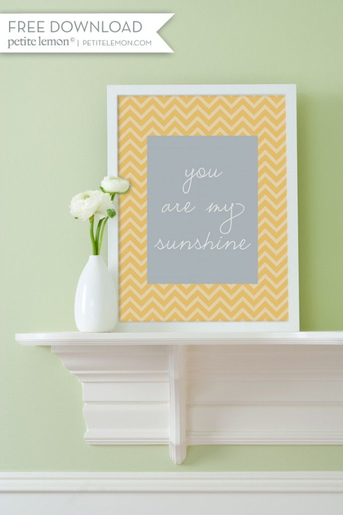 Printable nursery art - you are my sunshine & crying is for babies