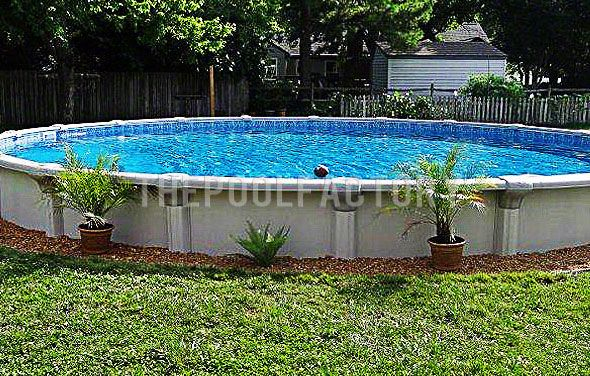 Landscaping Around Your Above Ground Pool Like The Idea