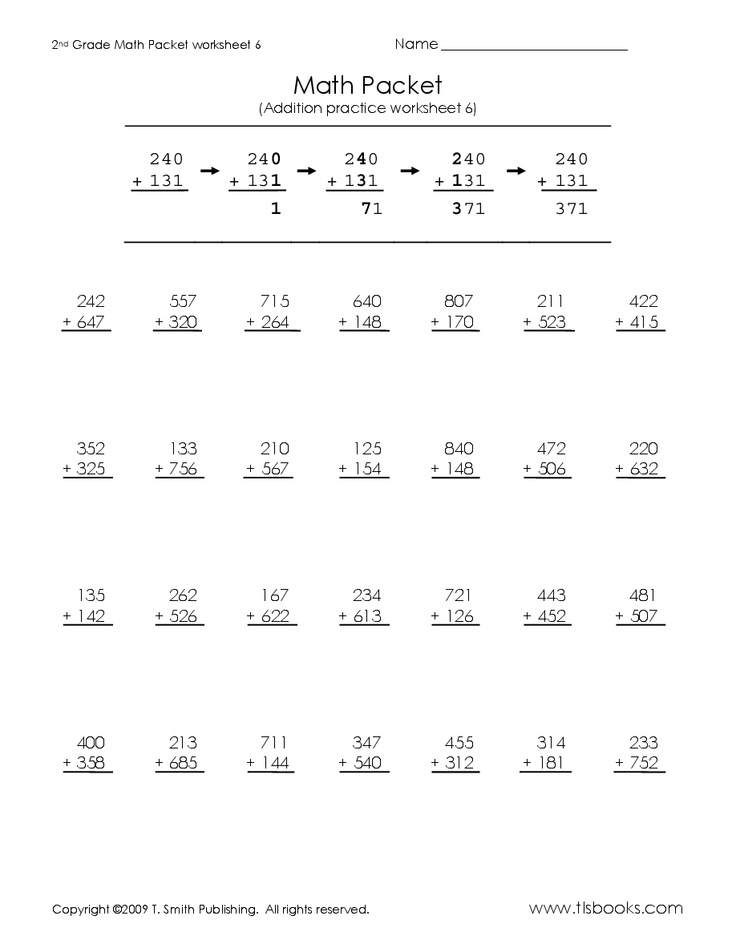 Math Review Packet Second Grade - place values second ...