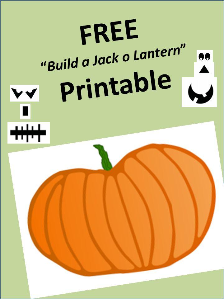 jack o lantern printable