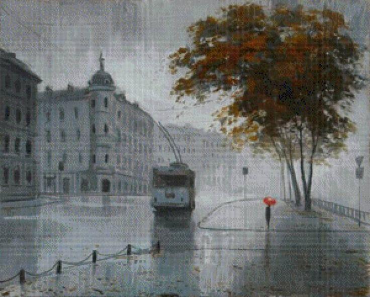 Одинокий тролейбус., предпросмотр