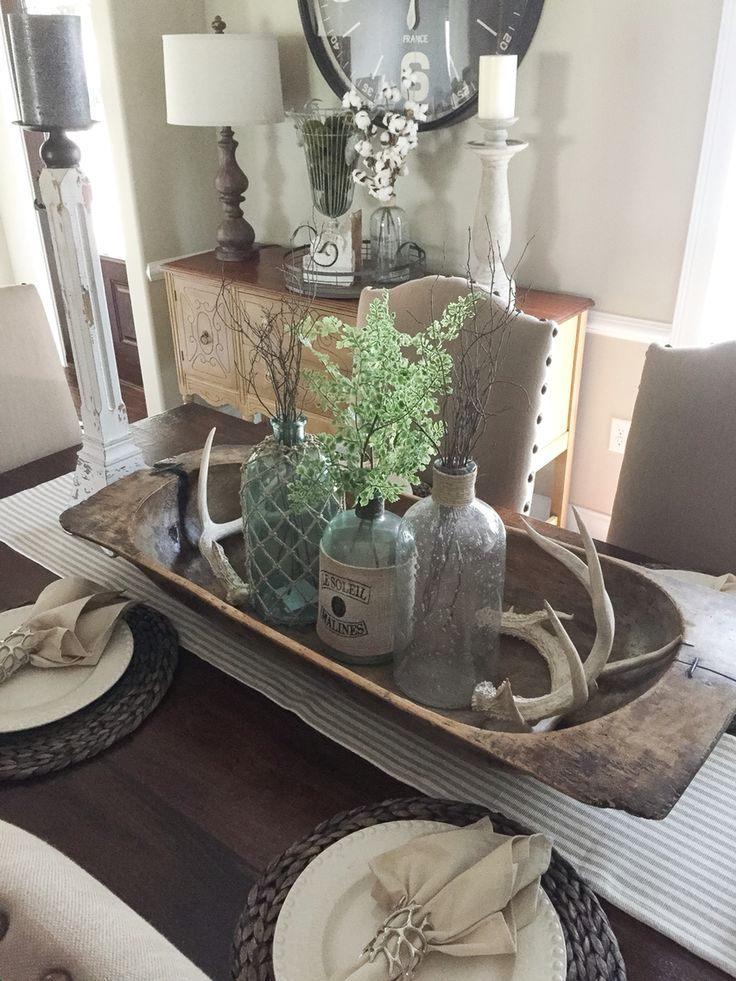 Best 25 antler centerpiece ideas on pinterest white on white white pumpkins and country - Kitchen table centerpiece bowls ...
