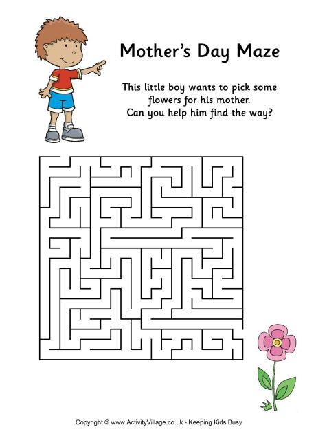 Mother's Day maze medium
