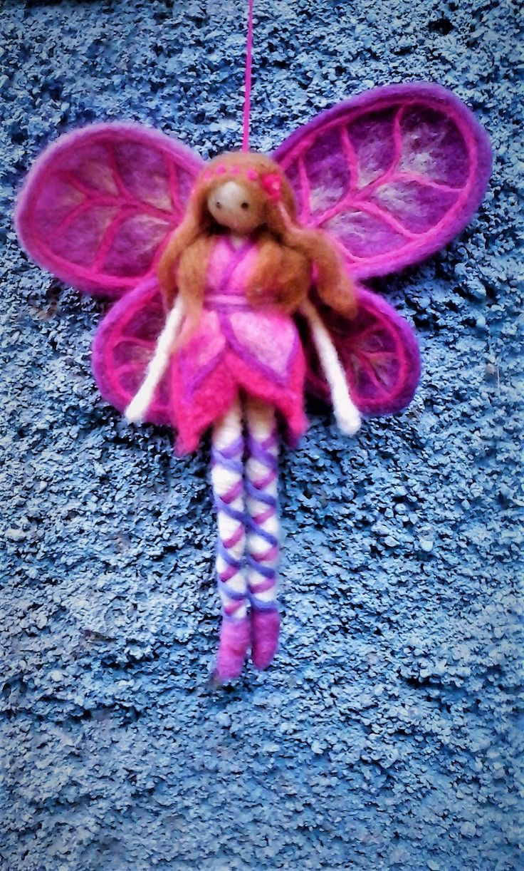 felted fairy made in wallmapu by mialma