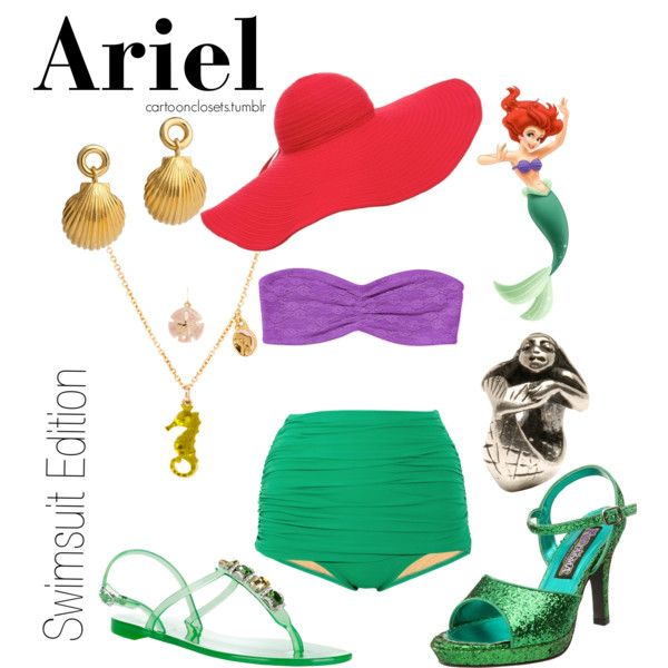 """The Little Mermaid Swimsuit Edition"" by bforbel on Polyvore"