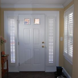 109 best images about plantation shutters on pinterest - Narrow window curtain ideas ...
