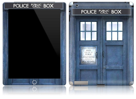 There's a bunch of skins and cases to turn your iPad into a Tardis.  With everything the iPad can do I suppose you can say it's bigger on the inside.  #DrWho #TheDoctor: Tardis Ipad, Stuff, Doctorwho, Ipad Skin, Doctor Who, Doctors, Mini
