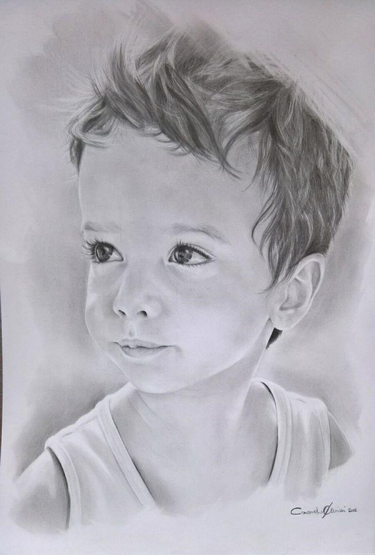 Ritratto Bambino a matita. Ritratti da foto su commissione.