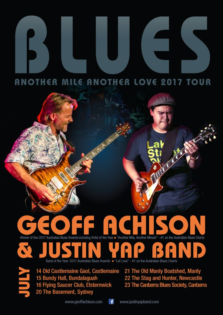 Poster for Geoff Acjhison $ Justin Yap Band