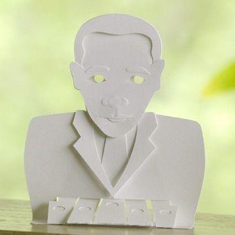 obama bunraku finger-key puppet