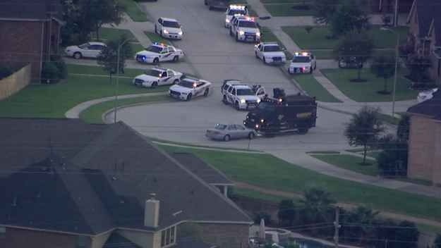 By 8:30 p.m. CT, police vehicles had the suspect's car pinned down in a cul-du-sac.   Prosecutors: Texas Man Tied Up Victims, Killed Six Execution Style