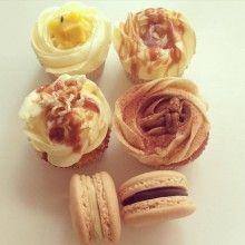 Passionfruit Curd, Banana Caramel, Salted Caramel Popcorn, Spiced Apple Pecan Cupcakes