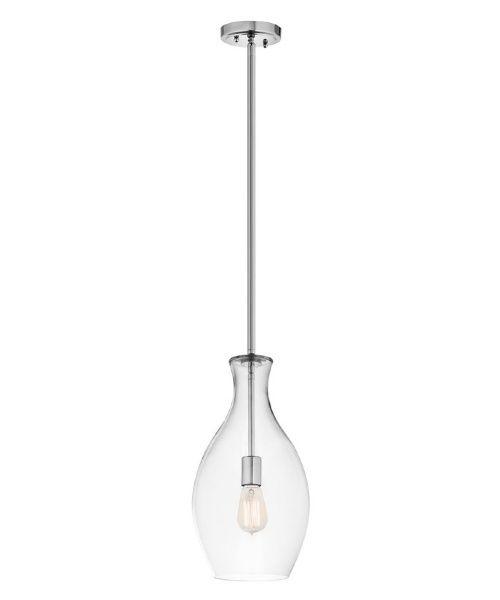 kichler everly 1 light mini pendant in chrome pendant lights at hayneedle