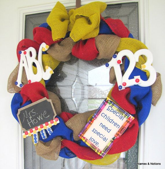 Perfect for your front door or your favorite teacher's!  Makes a great addition to a special needs classroom.  Custom orders also available.