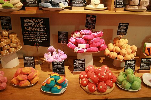 LUSH   I love my best friend for turning me on to this place and all of their wonderful products. I suggest the Bath Bombs and Shower Jellies. ;)