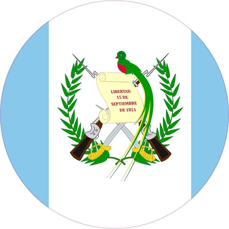 10in x 10in Round Guatemala Flag Sticker | StickerTalk®