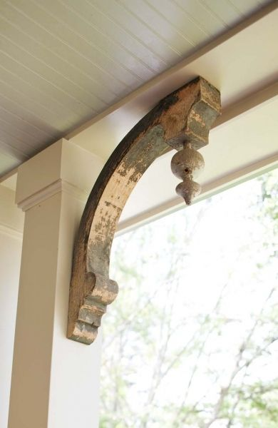 Salvaged brackets from a South Georgia farm find a new life as part of one of our new construction projects.