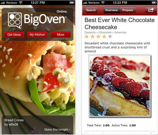 22 Free Food And Recipe iPhone Apps | Free and Useful Online Resources for Designers and Developers