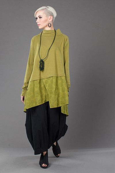 L/S Action Top in Green Charteuse Bellini Tokyo
