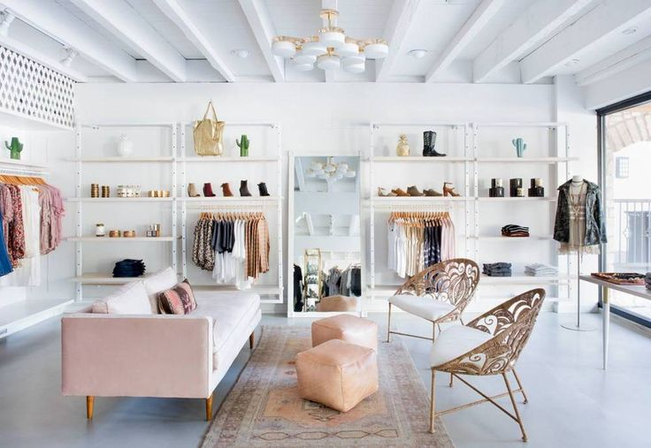 See inside the newly redesigned Adelante Boutique for women's clothing in Austin Texas, styled by Claire Zinnecker. Adelante Boutique in Austin gets a makeover with pinks, brass, and textured details.
