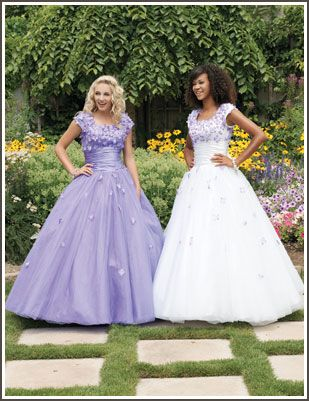 """Margene's Bridal"" modest prom dresses in Idaho Falls and Boise, ID"