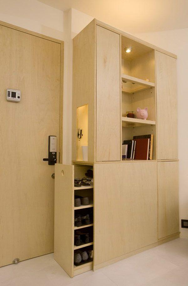 Ingenious Design Solutions in a Cozy 39 Square Meter Apartment - http://freshome.com/2013/01/23/ingenious-design-solutions-in-a-cozy-39-square-meter-apartment/