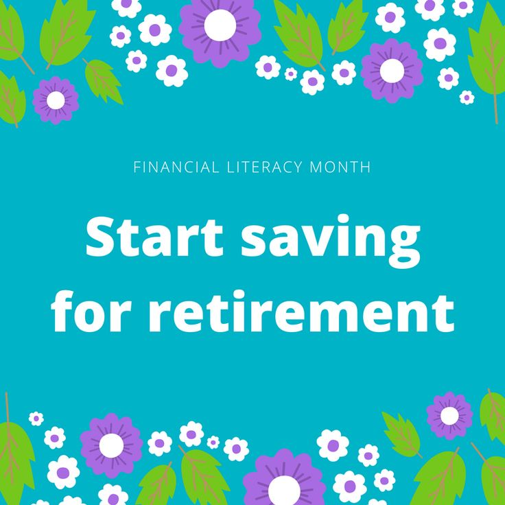 It's the last day of #financialliteracymonth! And last but not least: save for #retirement! Your future self needs it. And #compoundinterest is your friend. The earlier you start saving, the better off you'll be. And it's never too late to start. Open an IRA or start contributing to your employer-offered retirement account. And always, always take advantage of a match amount. It's free money!  #savings #investing #financialliteracy #personalfinance #money #goals