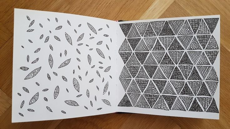 #sketch #doodle #leafs #triangle #pattern