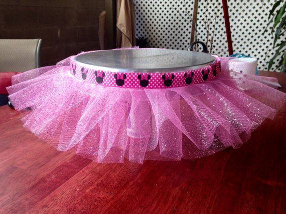Minnie Mouse Princess Cake Stand Tutu~ Tutu For Cake Stand on Etsy, $20.00