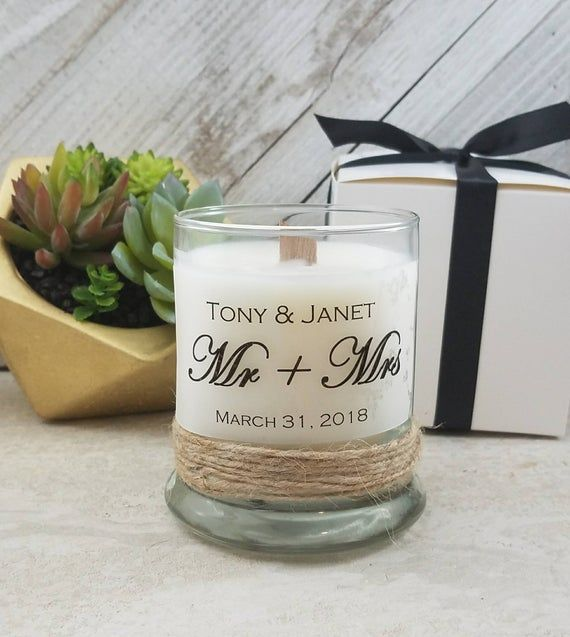 Newlywed Candles-Wedding Candles-Wedding Gifts for Couple-Custom Candles-Scented Soy Candle