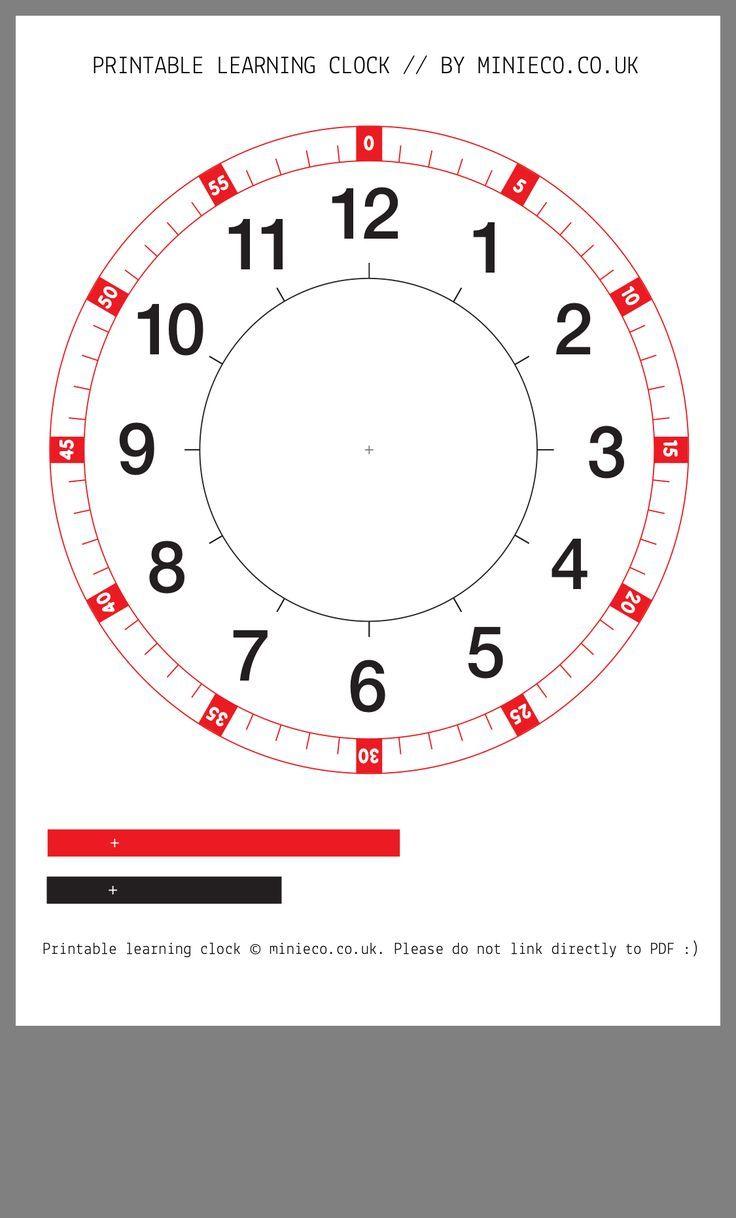 Free Printable Learning Clock. | Homeschool worksheets ...