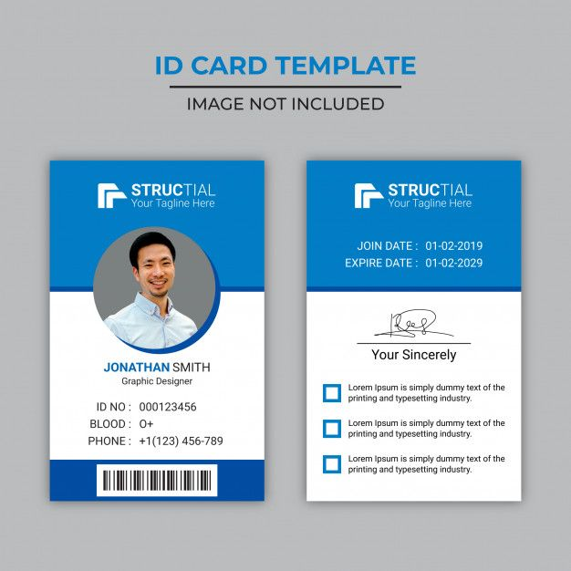 Creative Blue Id Card Design Employee Id Card Identity Card Design Business Cards Creative