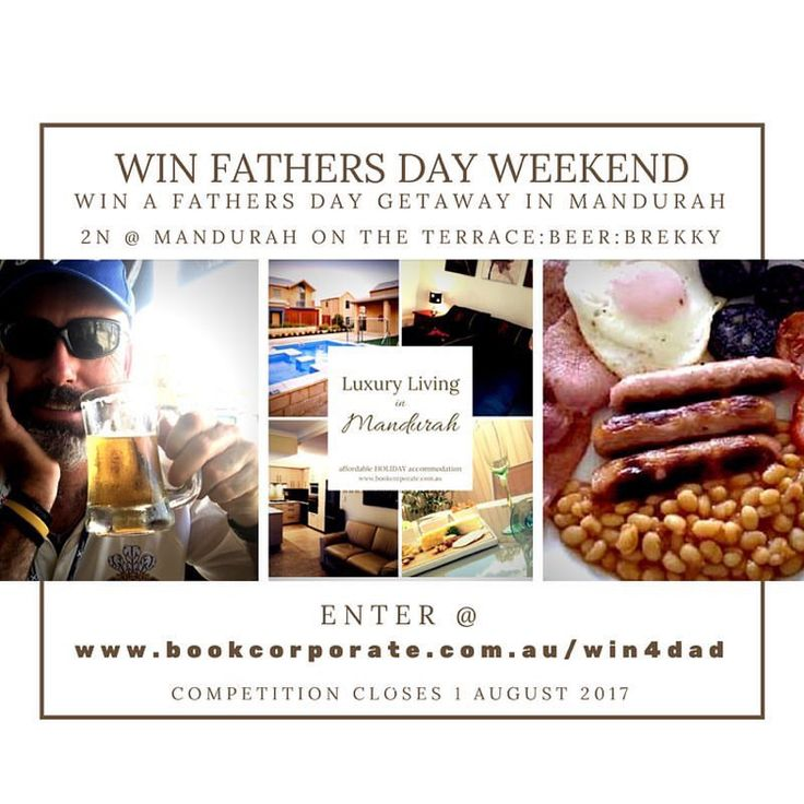 Win a FATHERS DAY WEEKEND @ MANDURAH on the TERRACE —