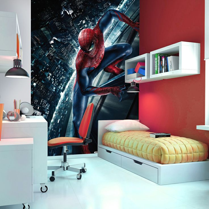 This Spiderman Mural Is Printed On High Qualityu0026 Specialist Wipeable  Wallpaper. Its A Fab Design Part 53