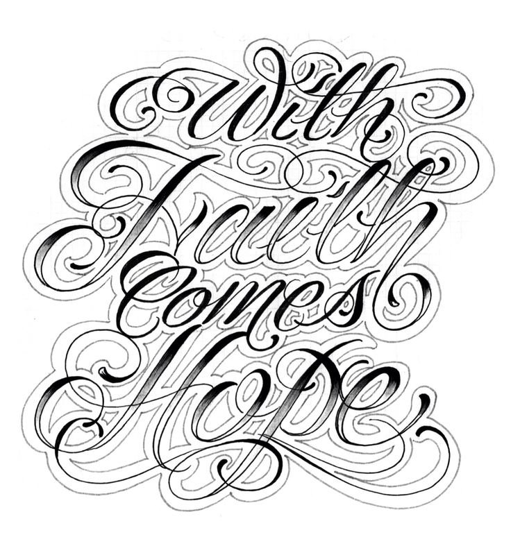 With Faith Comes Hope Script