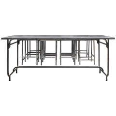 1950s Iron Canteen Table With Six Stools. Moderne Esszimmer SetsStühle1950 Irons
